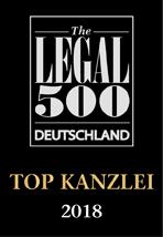 The Legal 500 - Regionale Kanzleien: Wirtschaftsrecht - Metropolregion Mitteldeutschland und Dresden 2018
