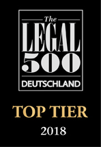 The Legal 500 - Top Tier 2018